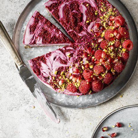 «Cheesecake» framboises-lime