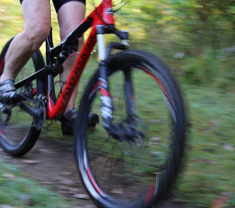mountain biker at Albion Hills Conservation Park