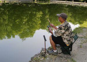 fishing at Glen Haffy ponds