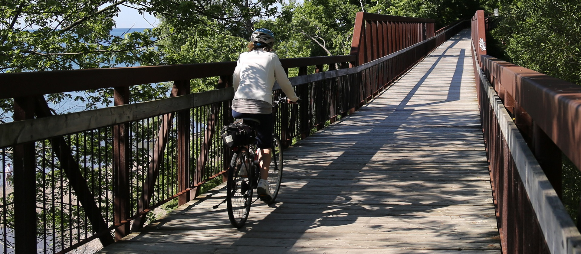 Cycling at Petticoat Creek Conservation Area