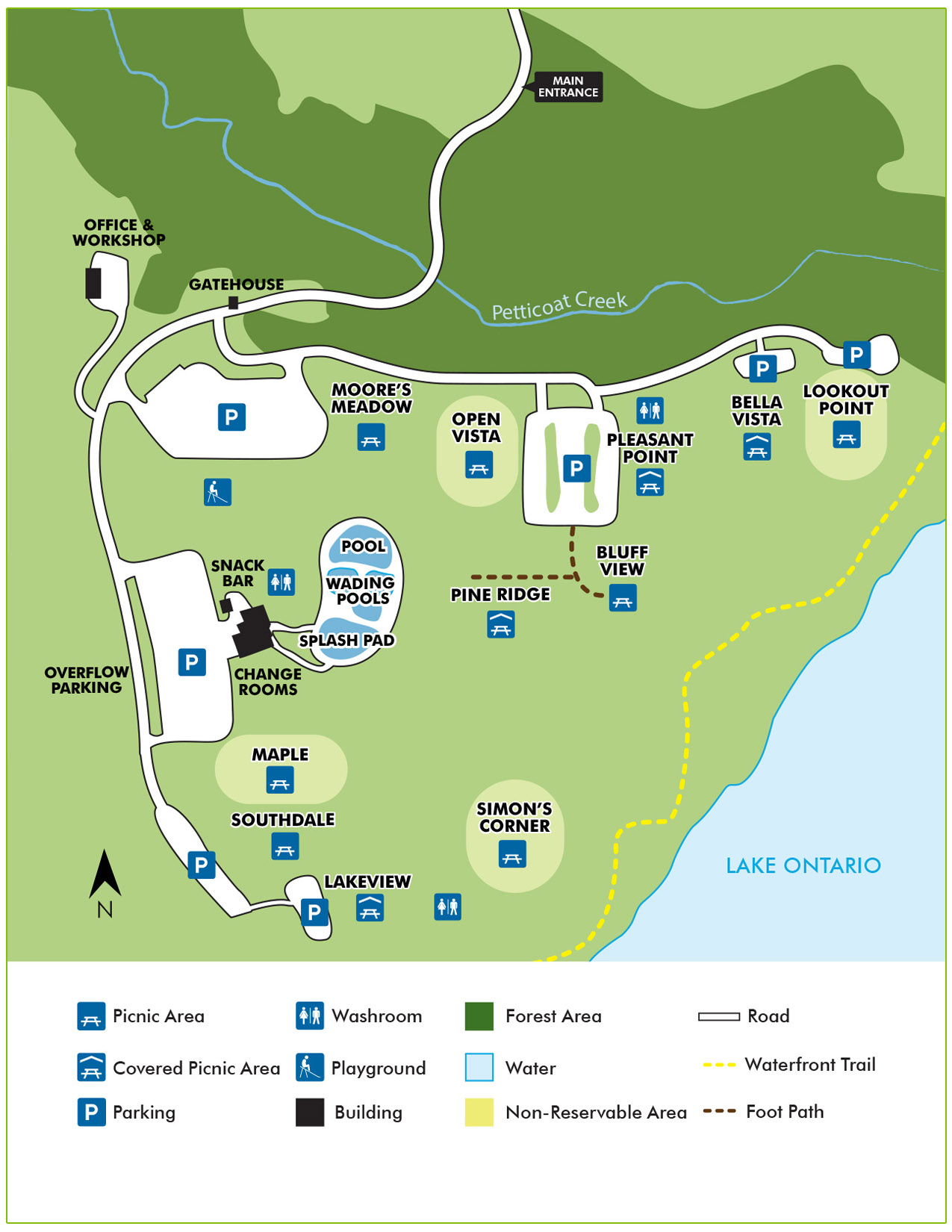 Petticoat conservation park wayfinding map