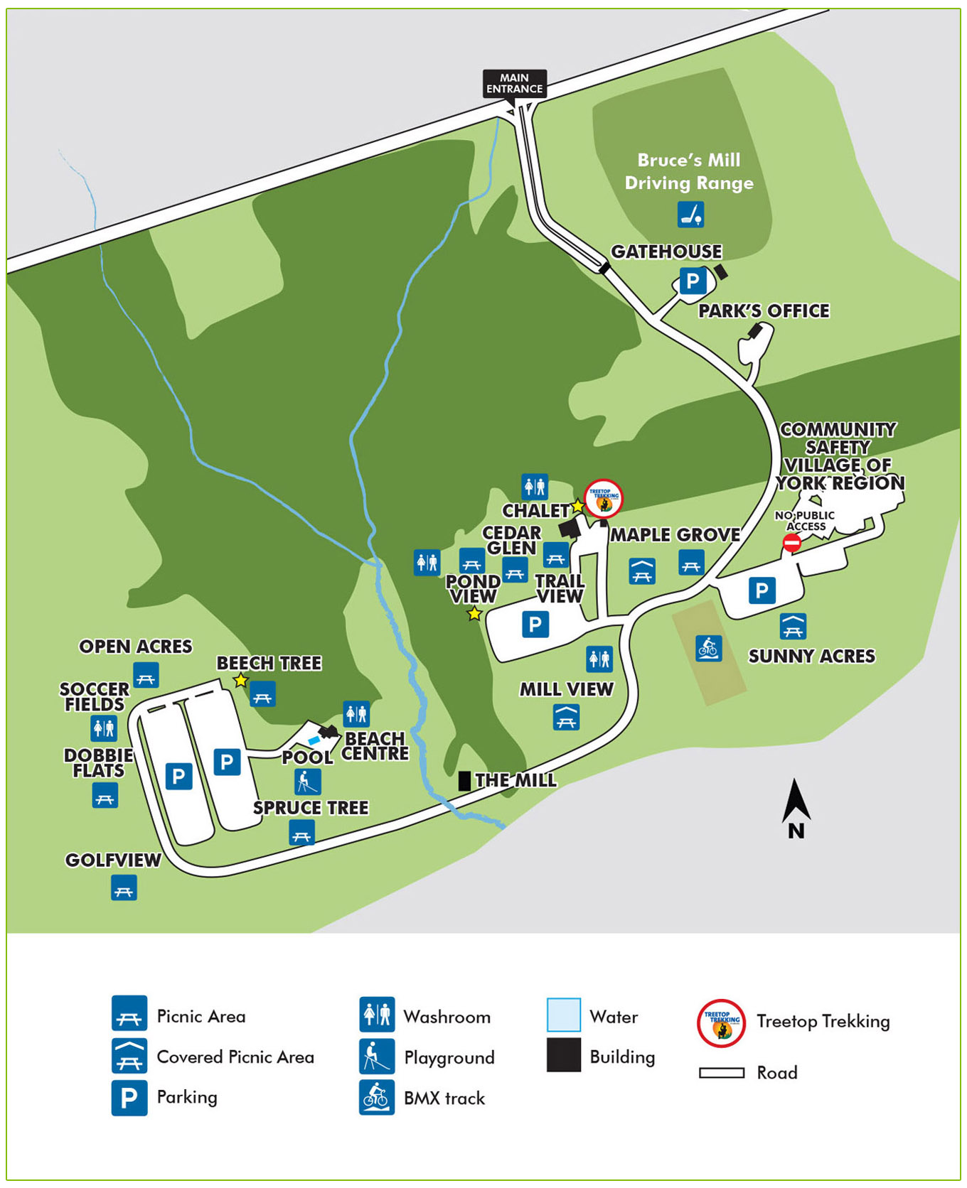 Bruces mill conservation park wayfinding map