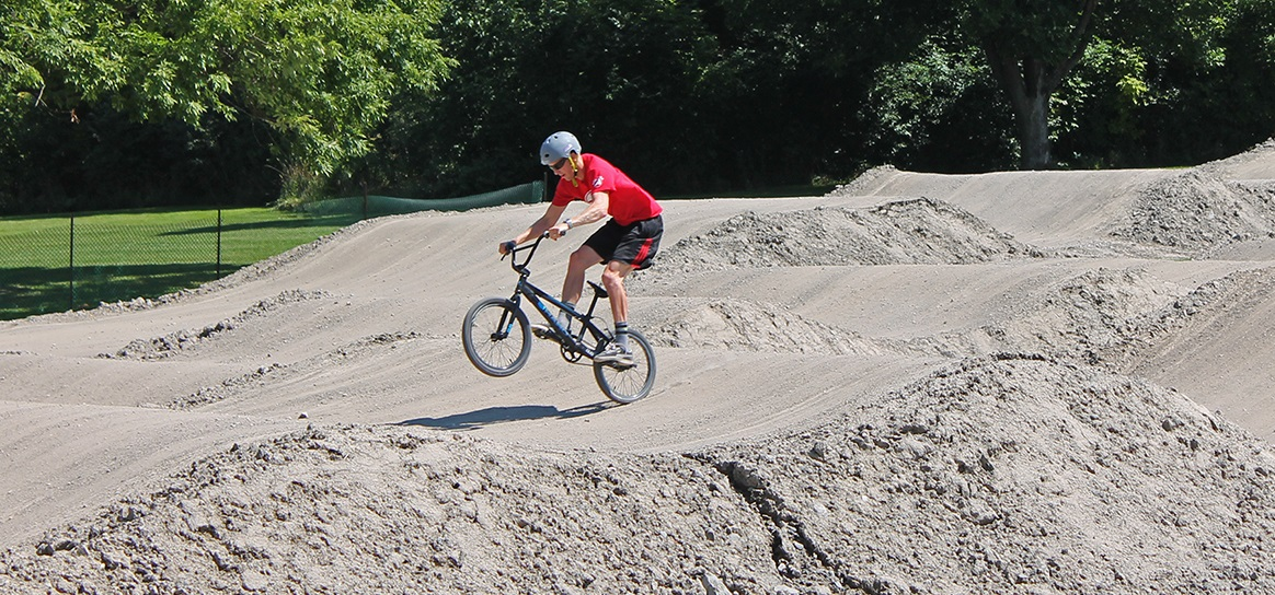 BMX rider at bruces mill conservation park
