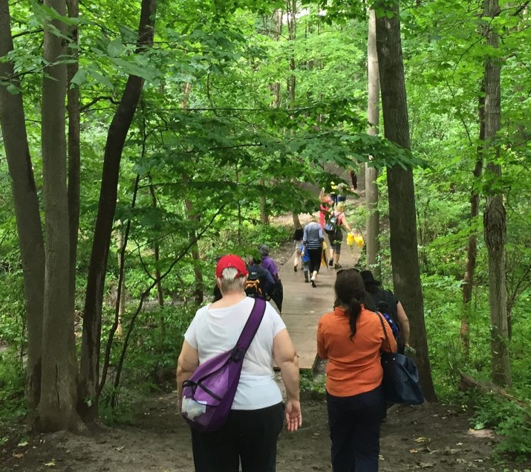 hikers at Claireville Conservation Area