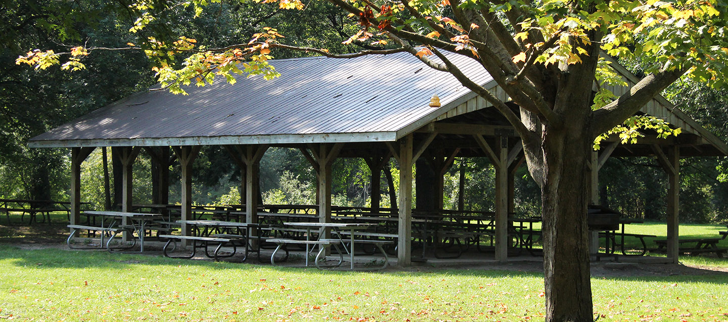 picnic shelter at boyd conservation area