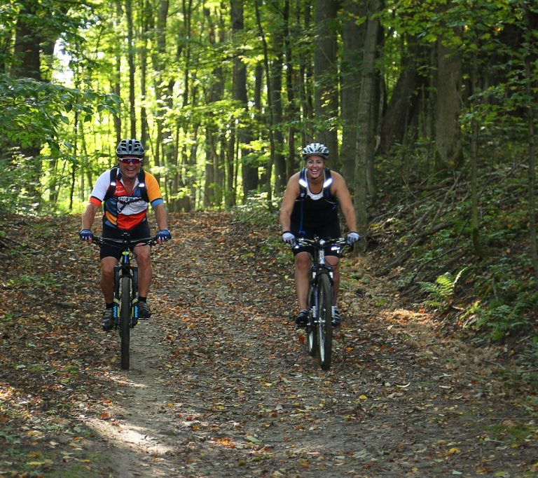 mountain bikers at Albion Hills Conservation Area
