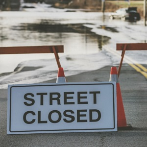 street closure sign