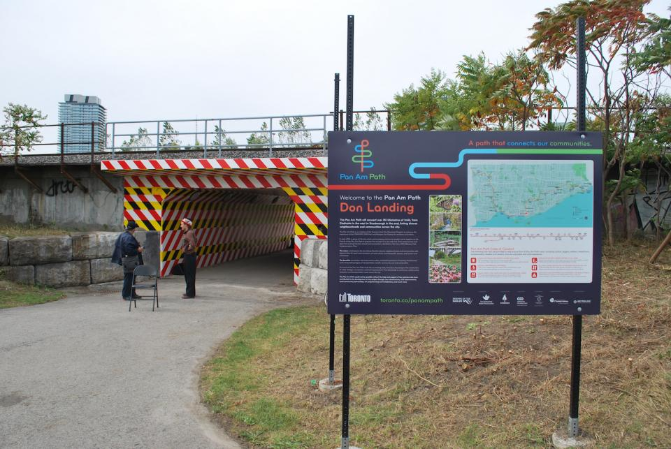 The completed Bala underpass beneath the Don River Bridge