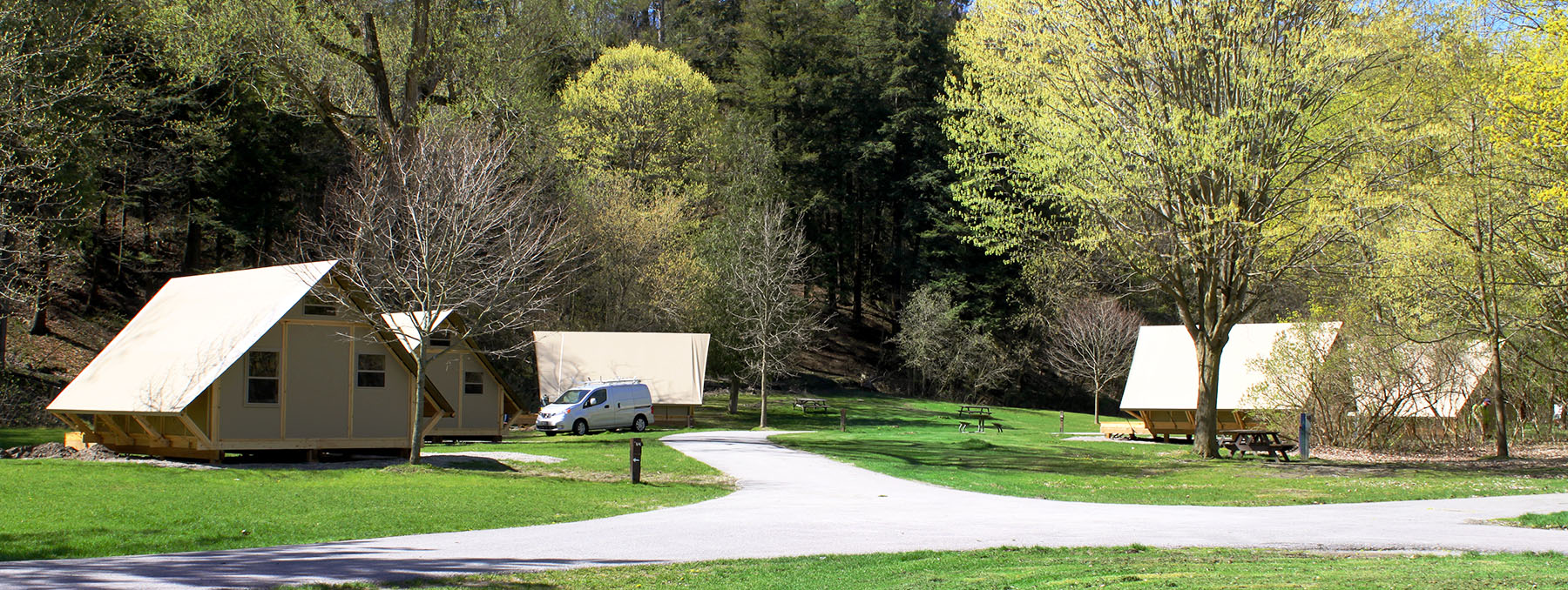 Parks canada otentiks at glen rouge campground