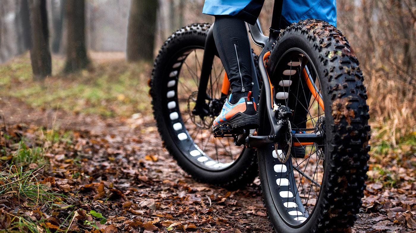 fat bike on a nature trail