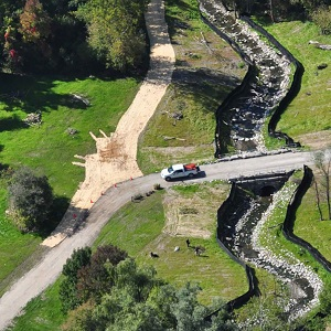 aerial view of a TRCA restoration project in progress