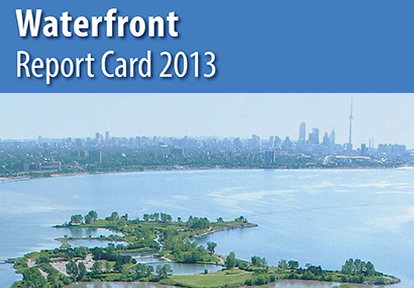 cover of 2013 waterfront report card