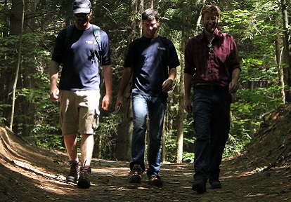 Hikers at Albion Hills Conservation Area