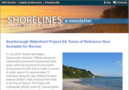 Thumbnail image of Lake Ontario Waterfront newsletter
