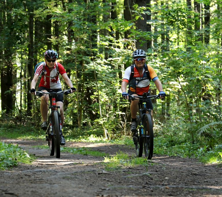 mountain biking at Albion Hills Conservation Park