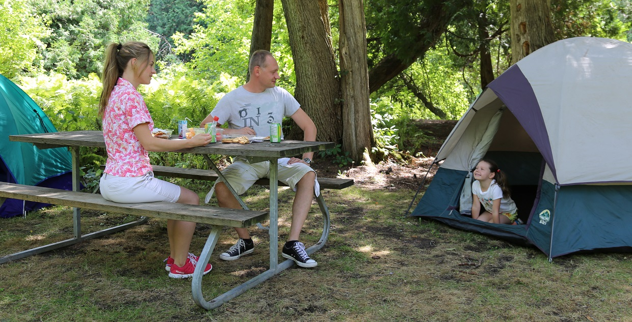 family at albion hills campground