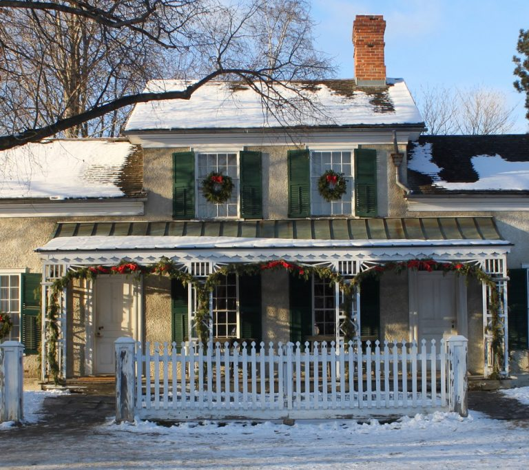 Doctors House at Black Creek Pioneer Village on a snowy winter day
