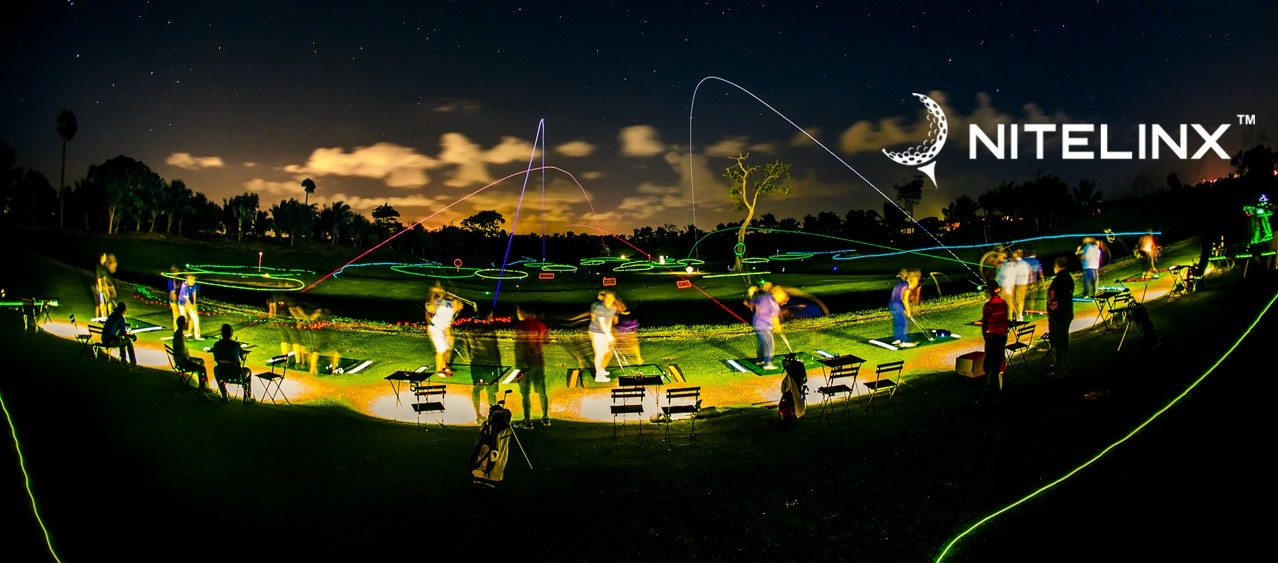 night golf event at bruces mill driving range