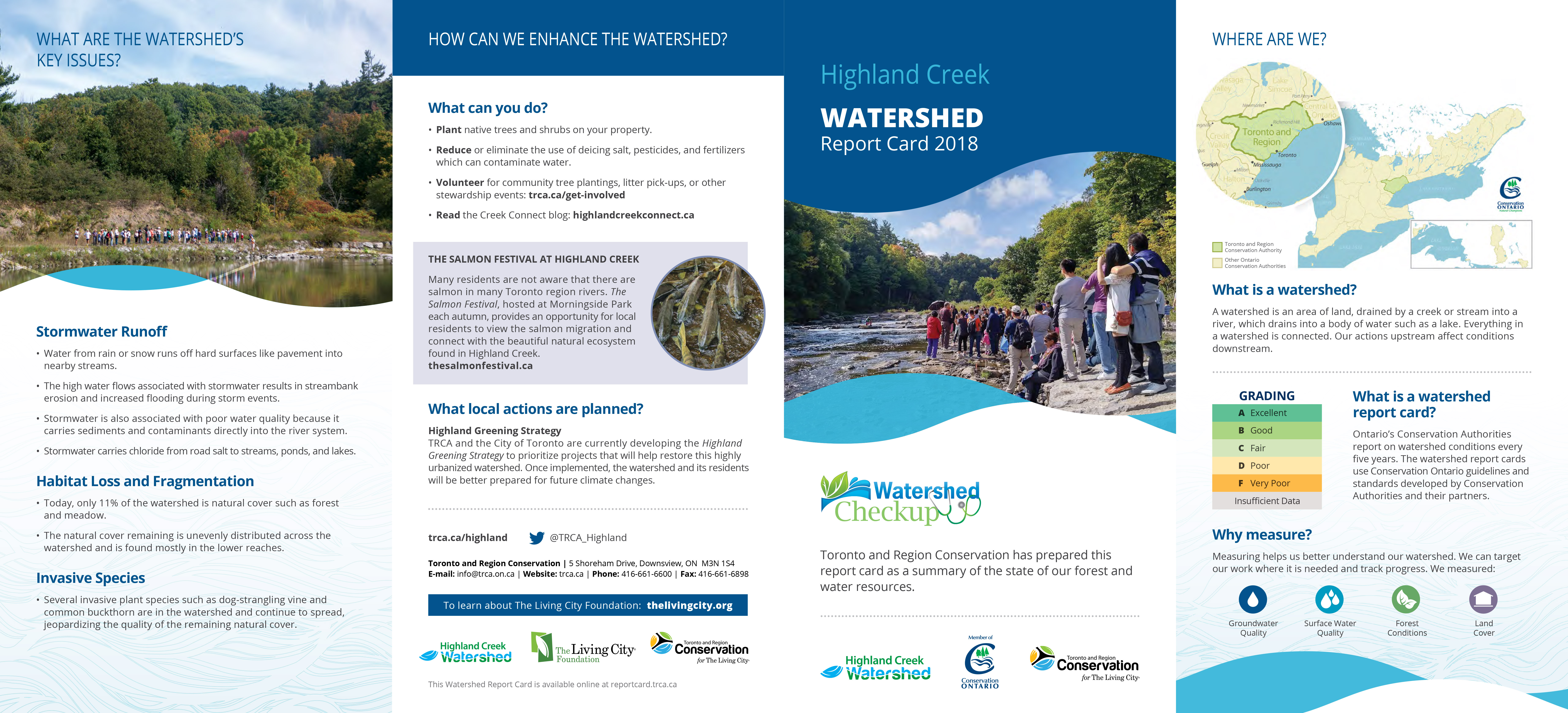 Highland Creek Watershed Report Card