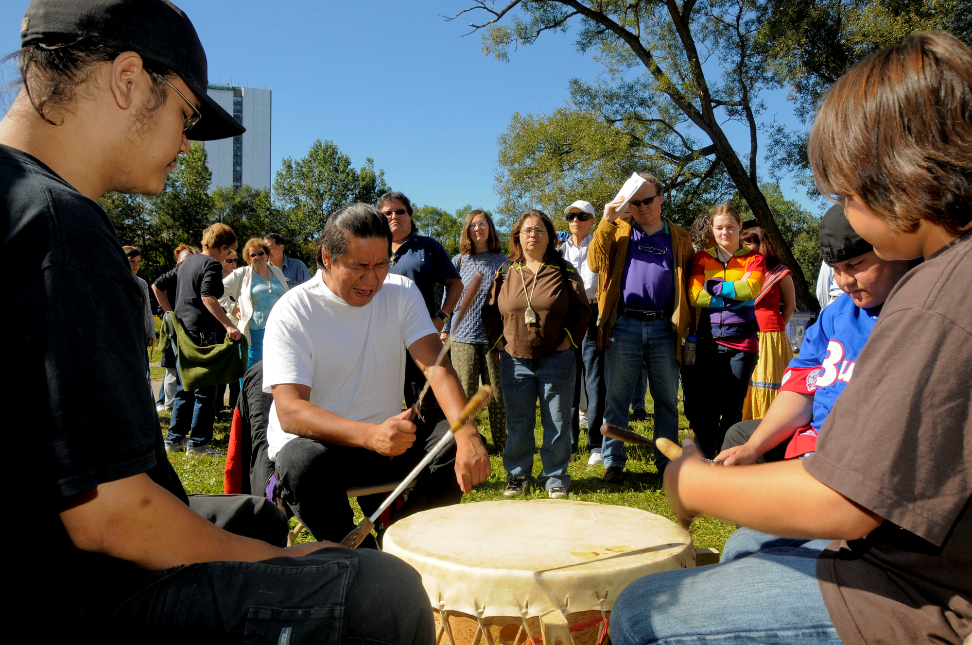 The Humber's Canadian Heritage River designation: 10th anniversary celebration with first nations drummers