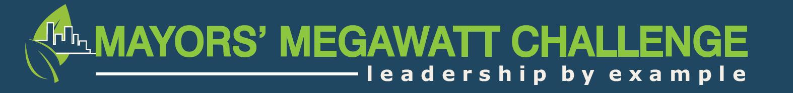 Mayors' Megawatt Challenge banner
