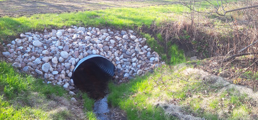 culvert on agricultural land in Rouge Watershed