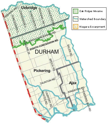 Durham Region map