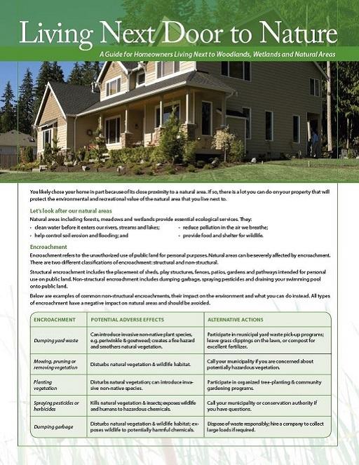 Living Next Door to Nature fact sheet cover