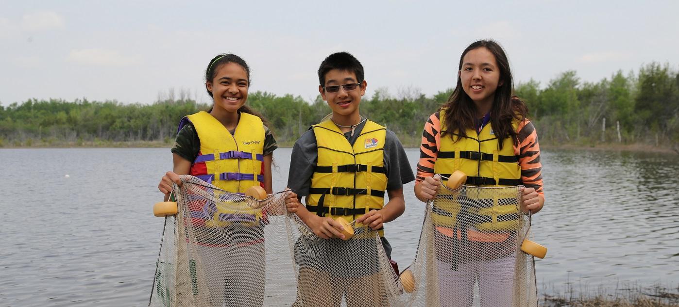 students take part in an overnight program at Lake St George field centre
