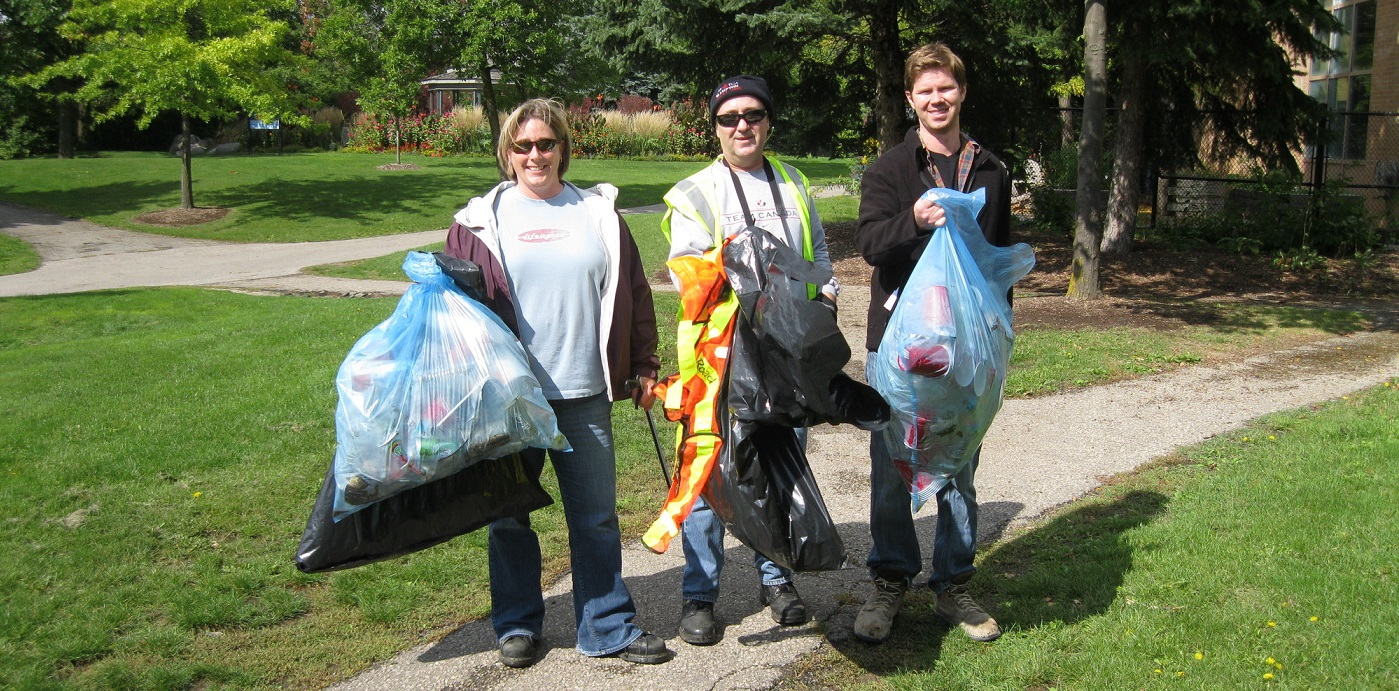 Community members take part in the Great Canadian Shoreline Cleanup