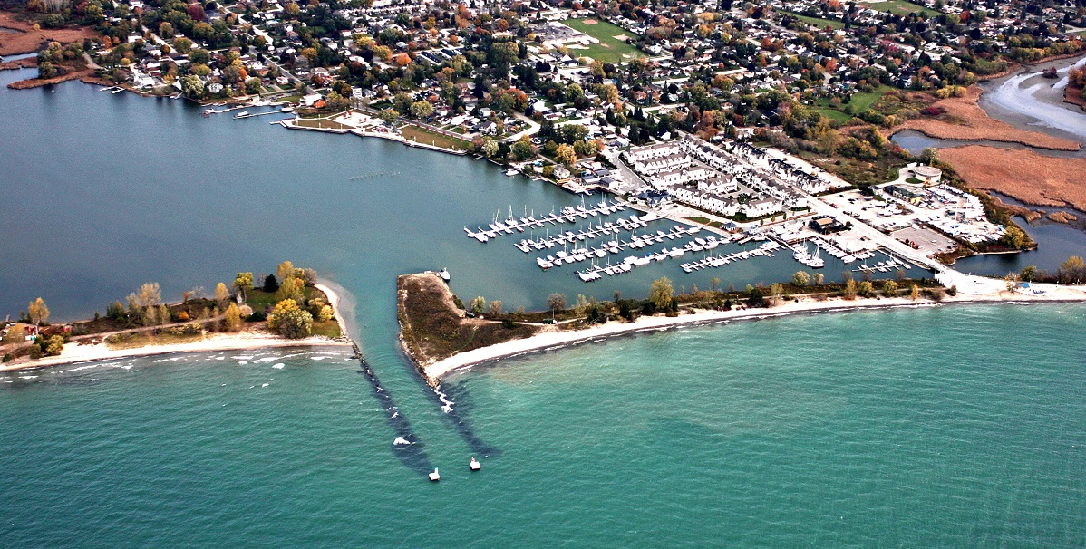 aerial view of Frenchman's Bay harbour
