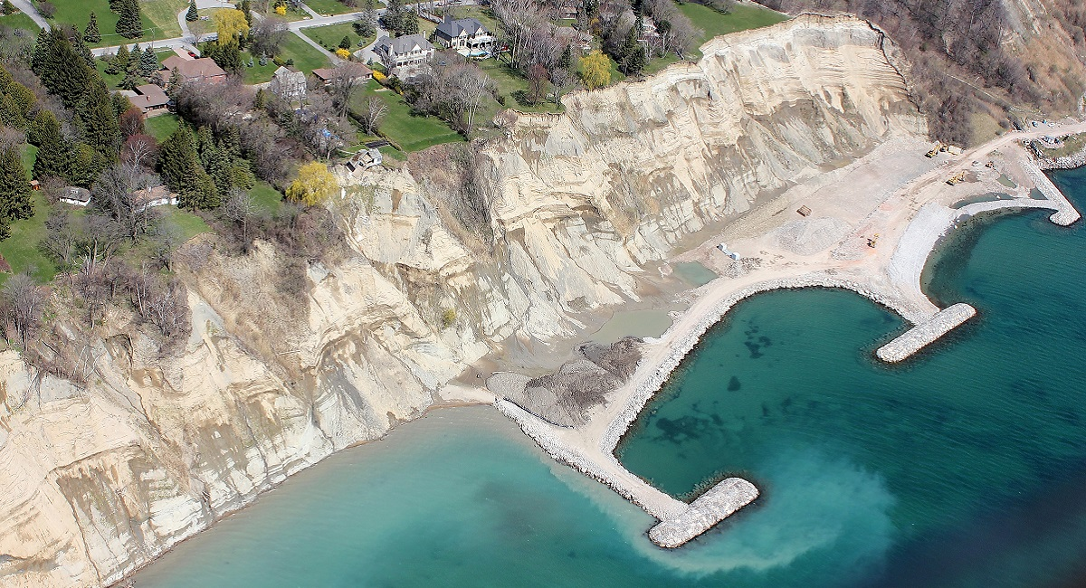 Signs of erosion on the Scarborough Bluffs