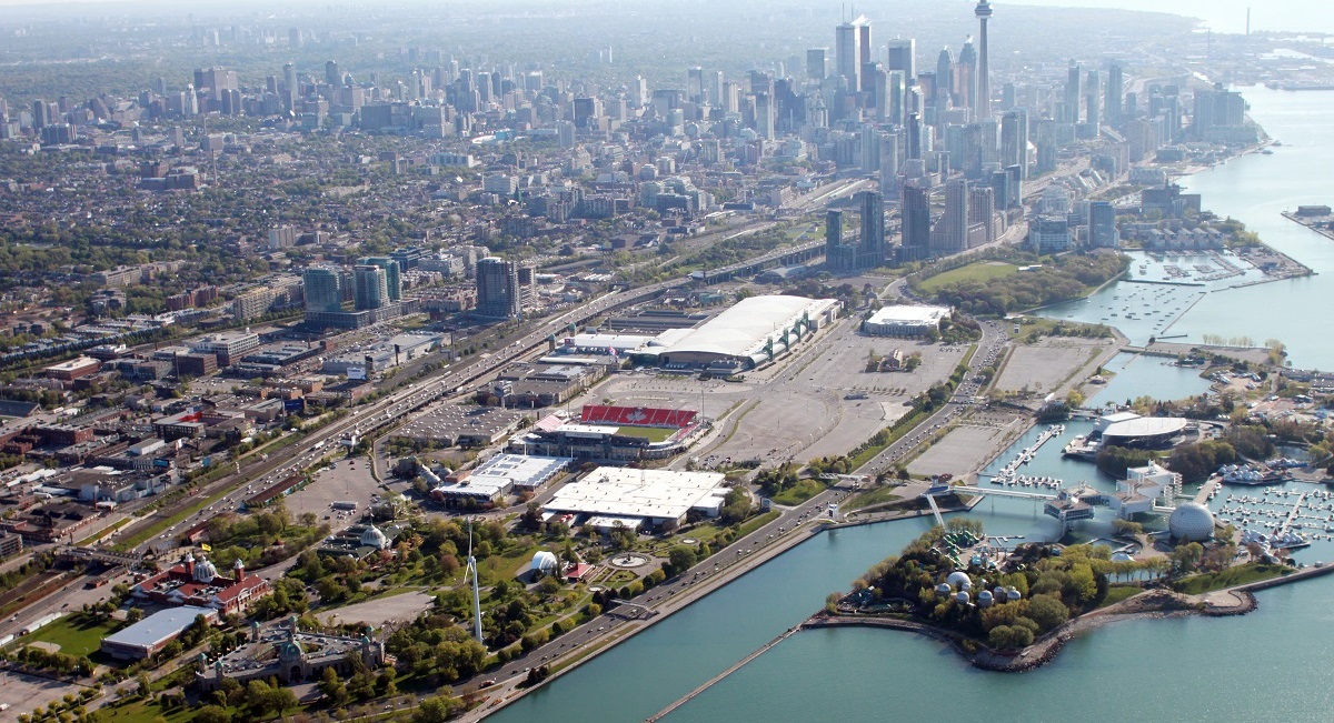 aerial view of City of Toronto waterfront