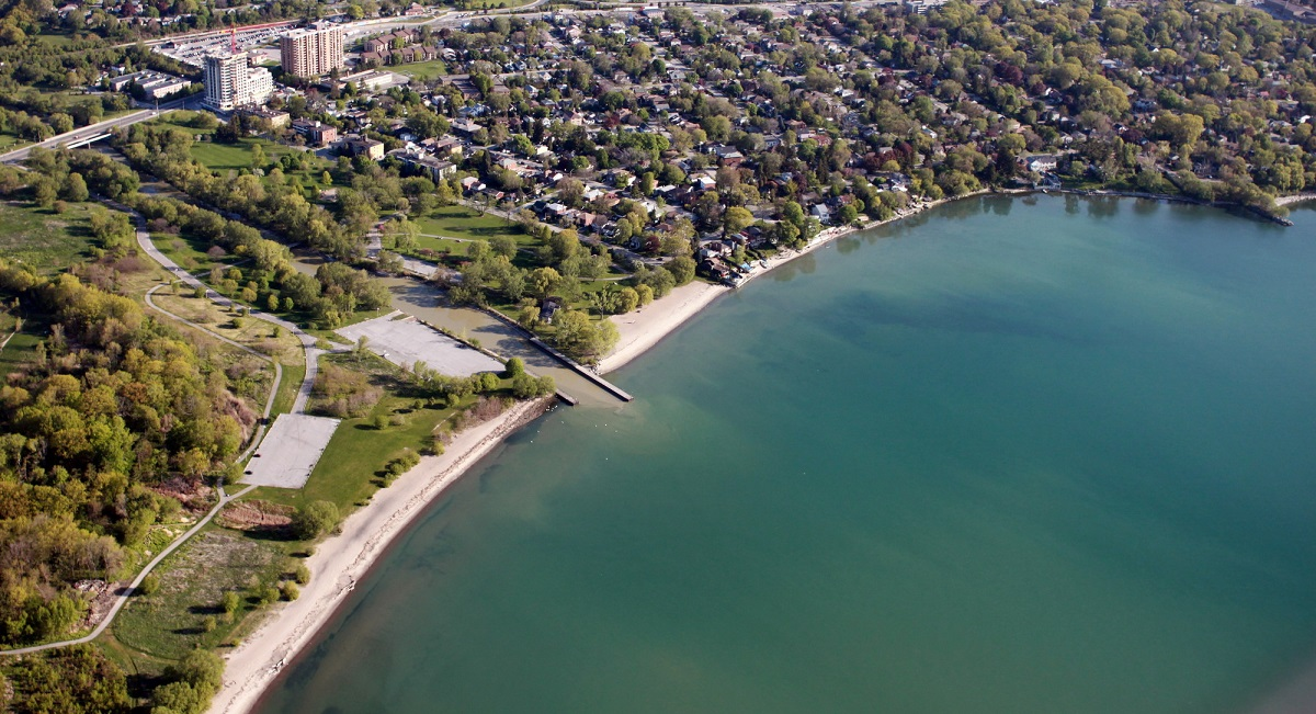 aerial view of Marie Curtis Park