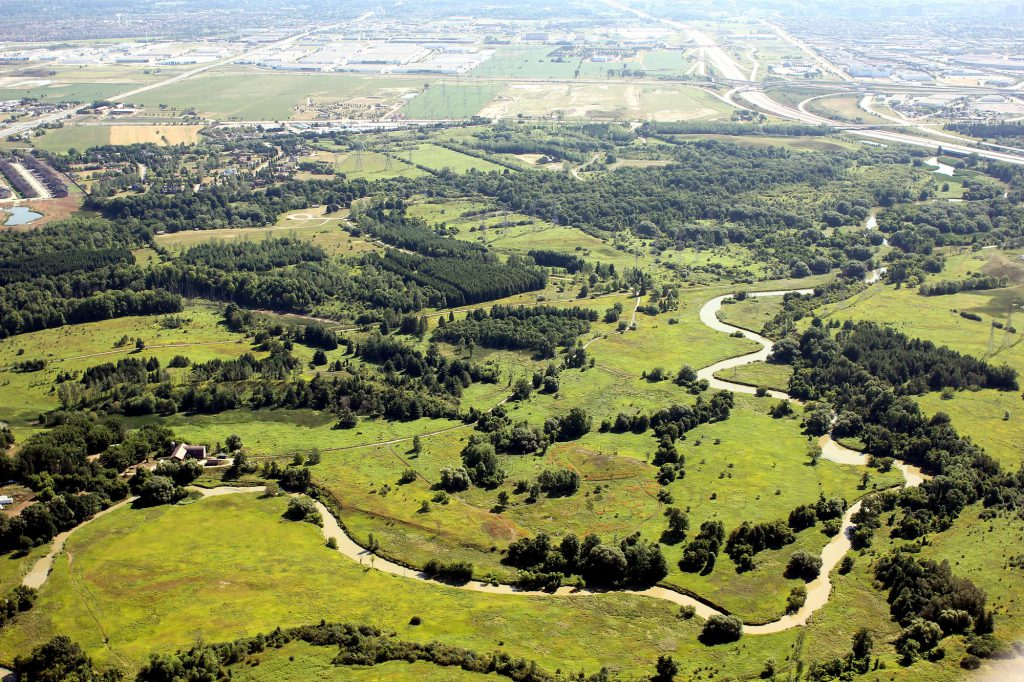 TRCA conservation lands Aerial photograph of Claireville Conservation Area