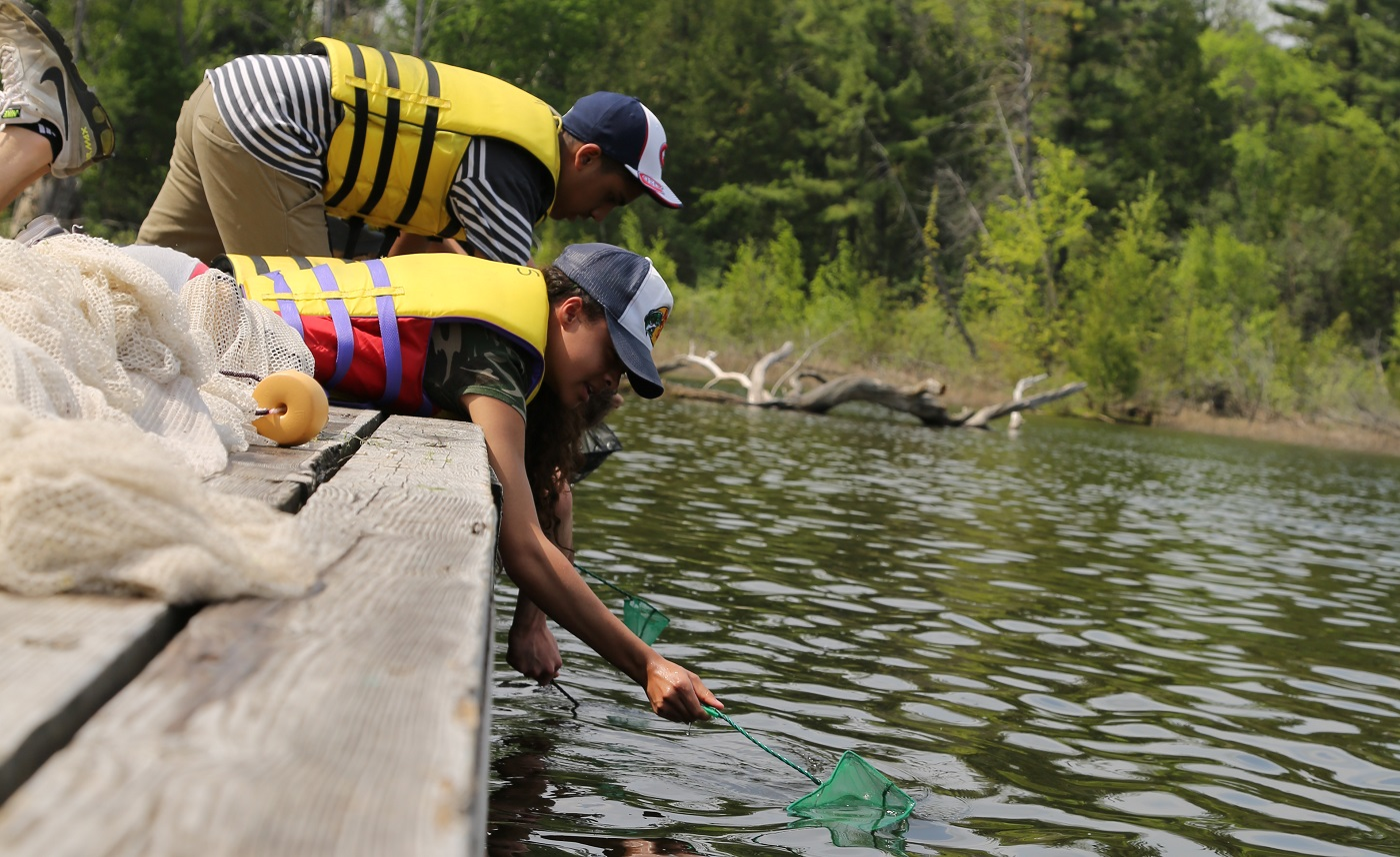 students take part in an educational program at Lake St. George field centre