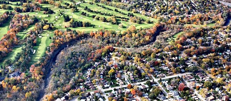 Etobicoke Creek aerial photo