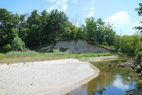 Erosion along Highland Creek