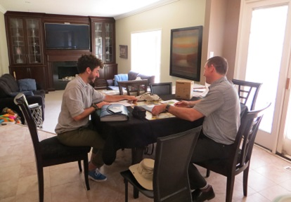 Bayview Glen resident meets with SNAP advisor to discuss residential retrofit