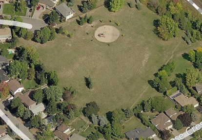 aerial view of Glencrest Park