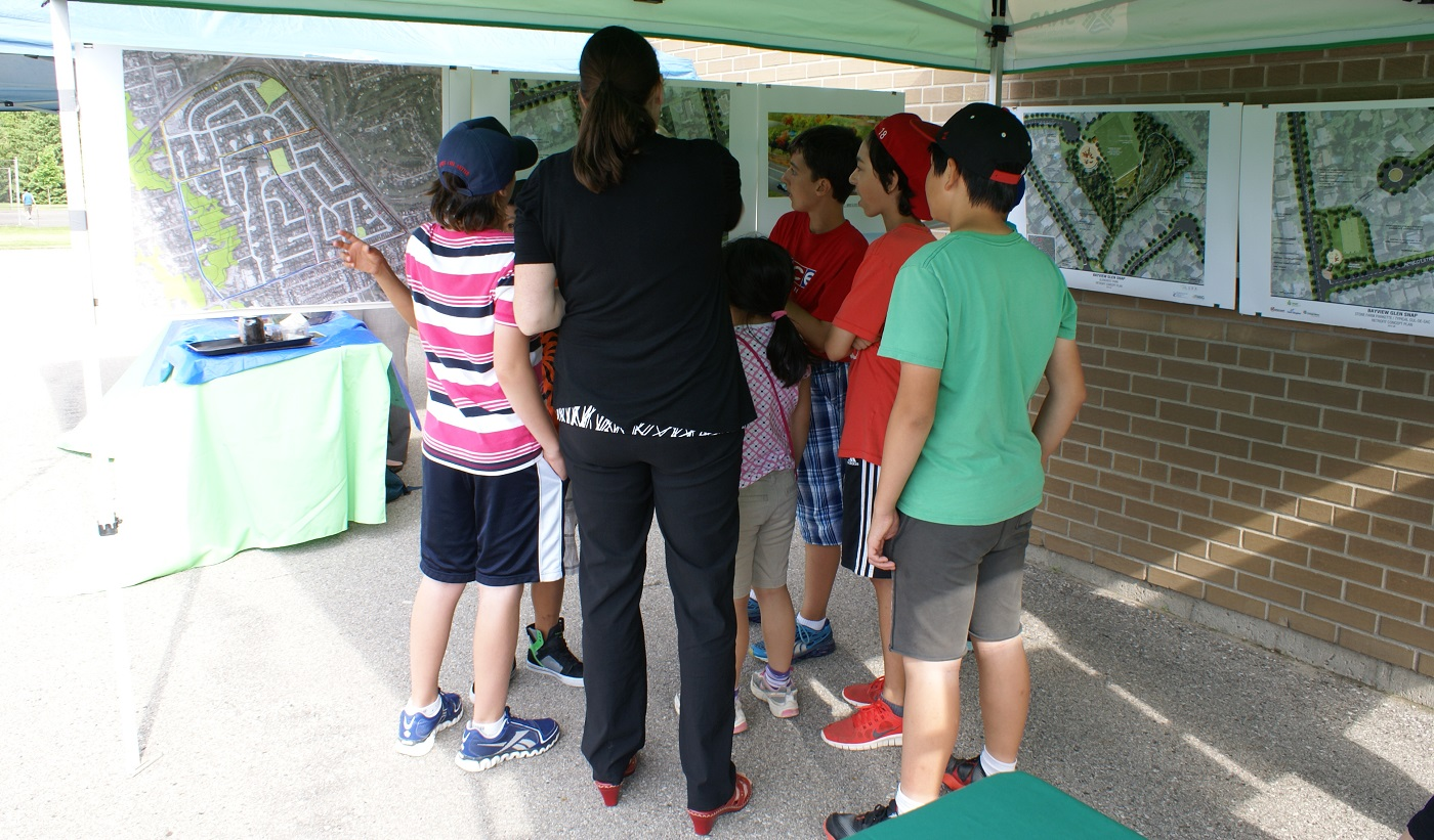Youngsters at a Bayview Glen community fair