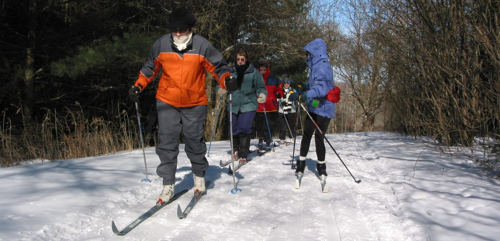 Cross country skiers at Albion Hills