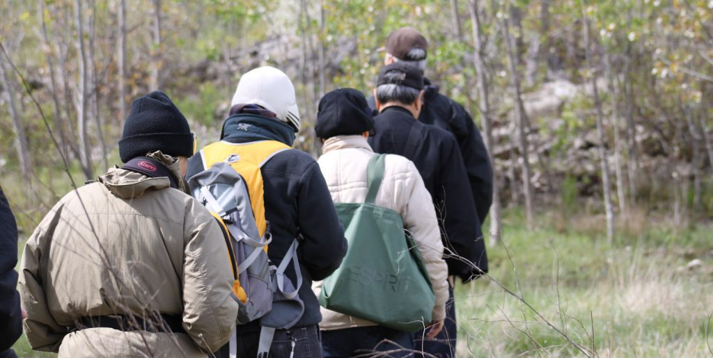 Hikers at Tommy Thompson Park