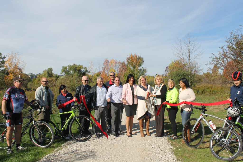 Ribbon cutting on the Etobicoke Trail Extension, Oct. 11, 2016