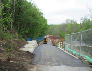 Paving work at Site 1.