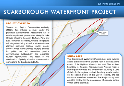 Scarborough Waterfront Project Info Sheet