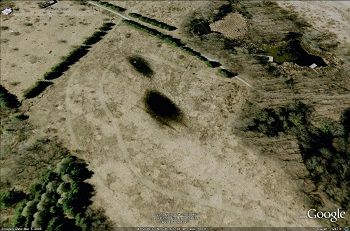 aerial view of Kortright Farm before restoration