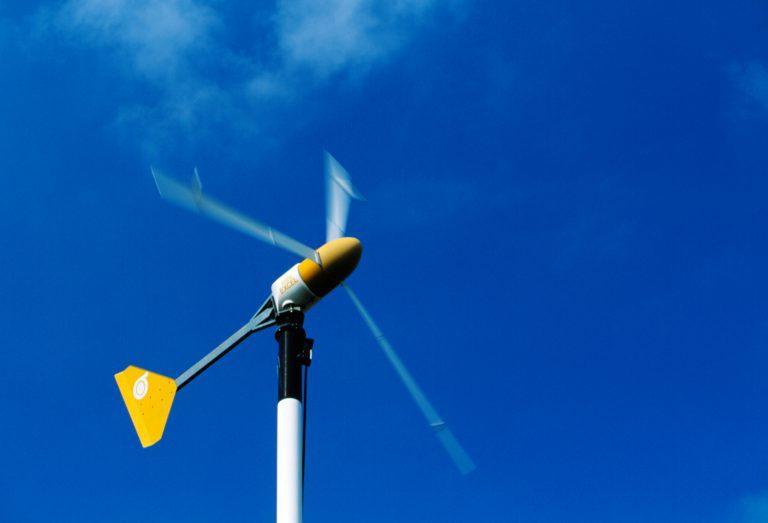 Small wind turbine and sky