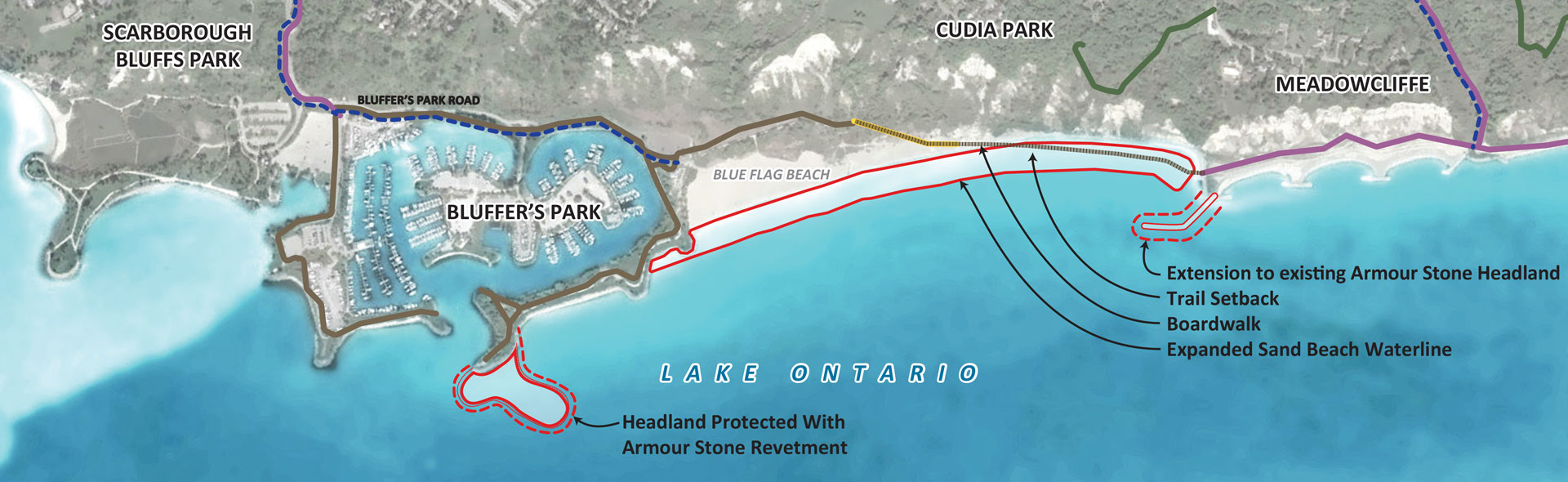 Map of Preferred Alternative (Beach Expansion - 5B)