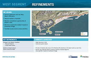 Scarborough Waterfront Project Public Information Centre display panel 11